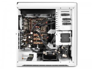 A PC with Custom Loop Liquid Cooling Setup