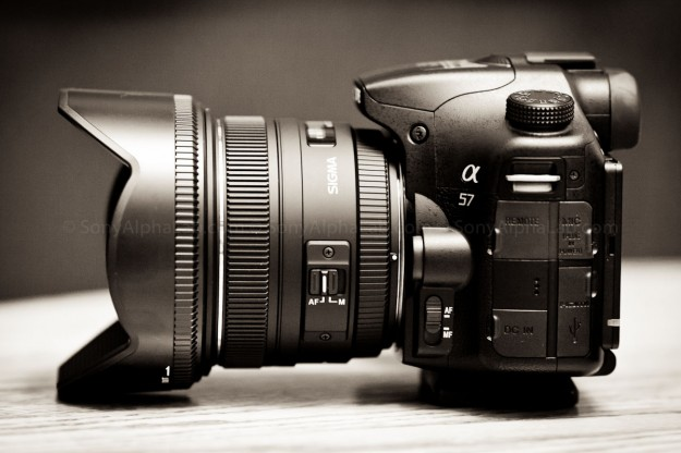 Sony A57 with upgraded Lens - image courtesy of sonealphalab