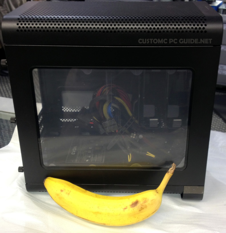 EVGA Hadron with a banana for scale