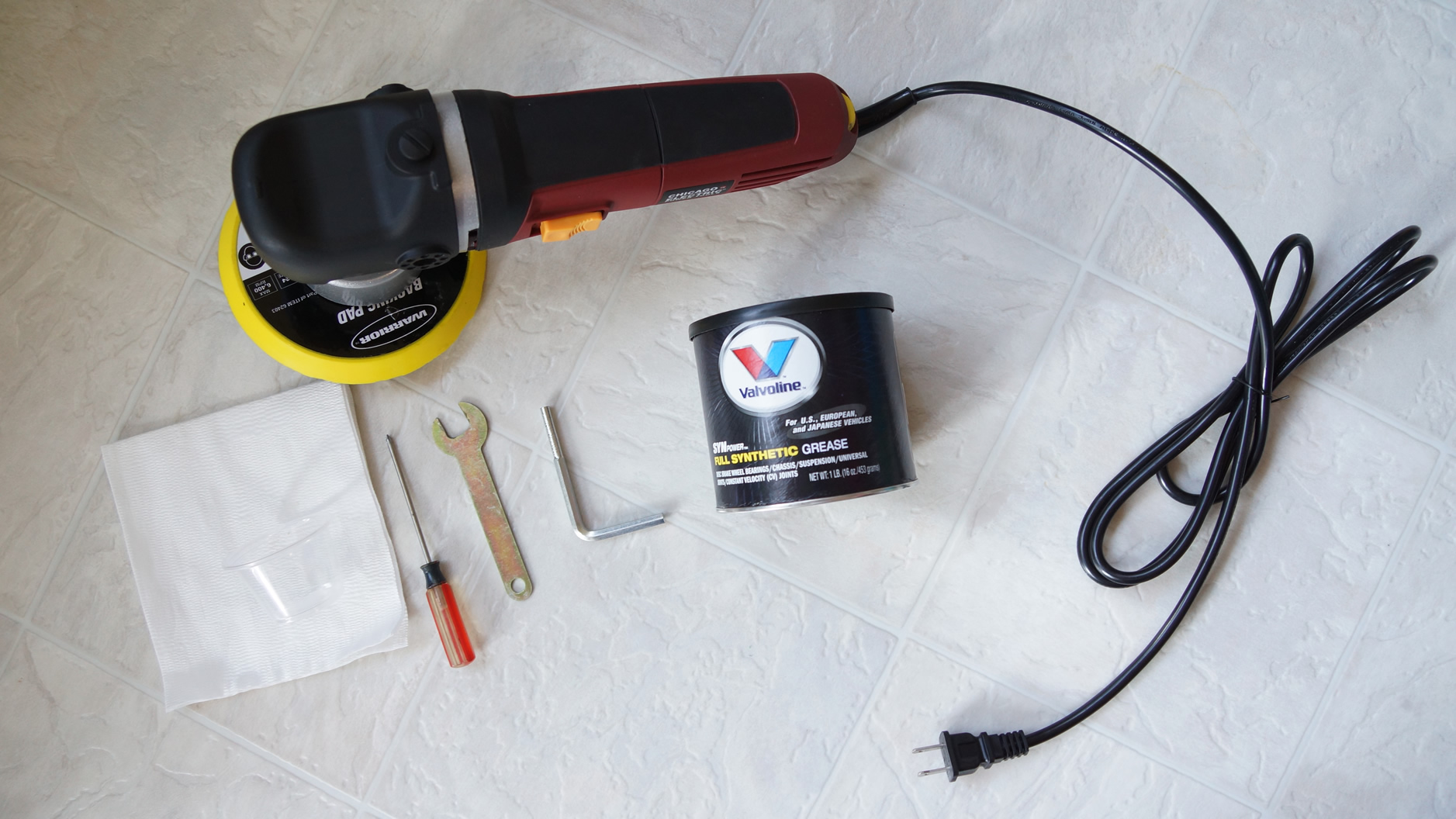 10 Steps to Replacing the Stock Grease in Harbor Freight DA